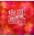 Sentimental Valentines Day card design vector image vector image