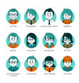 set of people avatars for your office team vector image vector image
