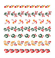 set of traditional embroidery vector image vector image
