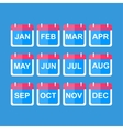 Simple Calendar Modern design flat style icon vector image vector image