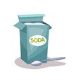soda in a craft paper bag and spoon baking vector image vector image