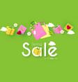 spring sale poster template seasom offer design vector image