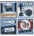 Surround Cinema Movie Composition vector image vector image