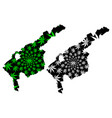 tashkent region republic uzbekistan regions of vector image vector image