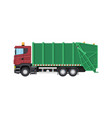 truck for assembling and transportation garbage vector image vector image
