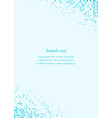 Turquoise page corner design template vector image vector image
