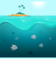 underwater landscape with tropical fish vector image