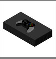 Video game console and controller isometric view