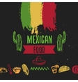 Vintage Mexican Food menu with lettering Mexican vector image vector image