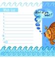 Wishlist goldfish vector image vector image