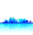 Blue City Reflections vector image