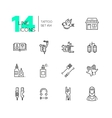Tattoo Studio - line icons set vector image
