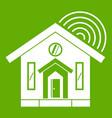 house icon green vector image