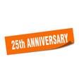 25th anniversary sticker anniversary square