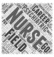 A career in psychiatric nursing Word Cloud Concept vector image vector image