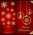 Abstart Red Christmas Invitation Card vector image vector image
