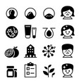 acne icon set collection vector image
