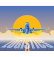 air freight logistics vector image vector image