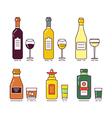 Alcohol Set vector image