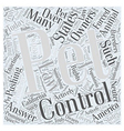 Animal Control Word Cloud Concept vector image vector image