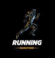 art concept a running woman vector image