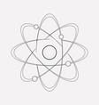atomic energy icon line element vector image