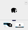 Bear creative logo template free business card