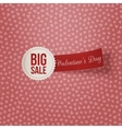 Big Sale Text on white Label with red Ribbon vector image