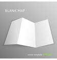 Blank map vector image vector image