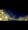 blue and gold festive background vector image