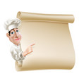 chef scroll menu vector image vector image