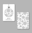 christmas and new year visiting card with vector image vector image