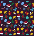 christmas seamless colorful pattern - xmas design vector image
