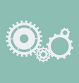 cogs and gears icon engineering in blue on vector image