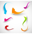 Colorful arrows Collection vector image vector image