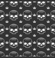 crown and skull seamless pattern vector image