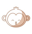 cute shadow monkey face cartoon vector image vector image