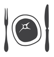 Cutlery knife fork steak - vector image vector image