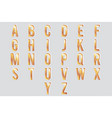 decorative cutout gold metall abc letters 3d vector image
