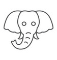 elephant thin line icon animal and zoo vector image vector image