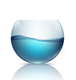 fishbowl with water isolated on a white background vector image vector image