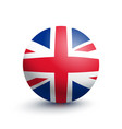 flag of great britain in the form of a ball vector image