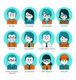 flat graphic people icons set of people avatars vector image vector image