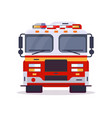 front view of fire engine vector image
