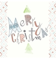 Funny Typography Christmas Background vector image vector image