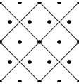 geometric ornamental polka in square seamless vector image vector image