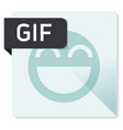 gif document file format square icon vector image vector image