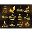 Happy Diwali typography vector image vector image