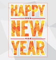 Happy New Year Card Polygon Style vector image vector image