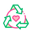 healthy organic cosmetics thin line icon vector image